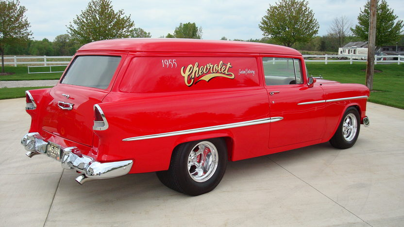 1955 Chevrolet Sedan Delivery 510 CI, Art Morrison Chassis presented as lot S52 at Kissimmee, FL 2013 - image2
