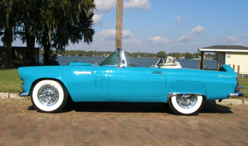 1956 Ford Thunderbird Convertible presented as lot J181 at Kissimmee, FL 2013 - image2