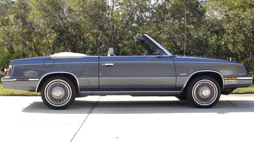 1985 Chrysler LeBaron Convertible Turbo 2.3L, One Owner Car presented as lot L52 at Kissimmee, FL 2013 - image2