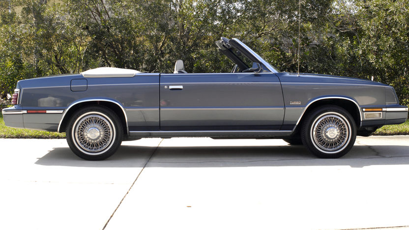 1985 Chrysler LeBaron Convertible Turbo 2.3L, One Owner Car presented as lot L52 at Kissimmee, FL 2013 - image8