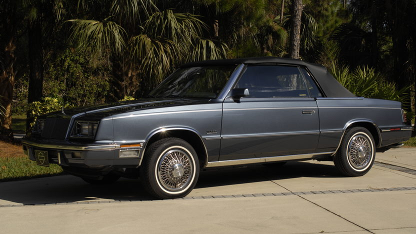 1985 Chrysler LeBaron Convertible Turbo 2.3L, One Owner Car presented as lot L52 at Kissimmee, FL 2013 - image9
