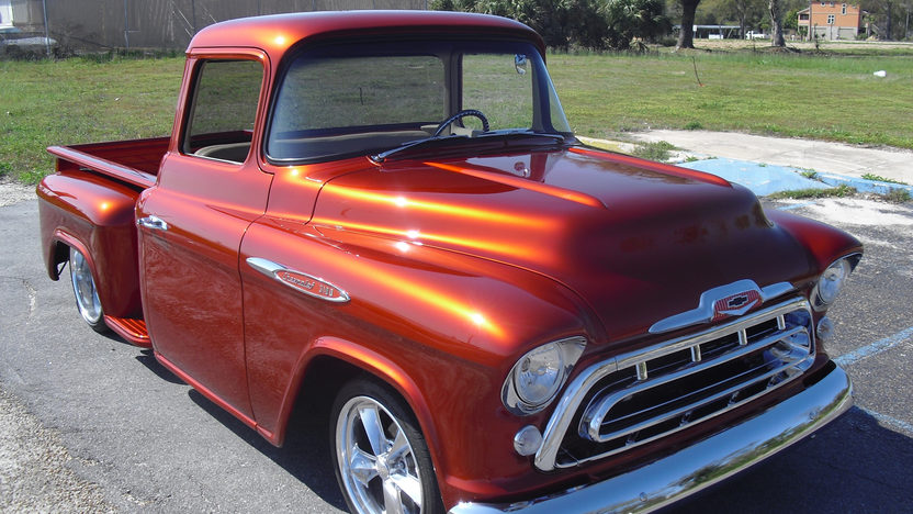 1957 Chevrolet 3100 Resto Mod Resto Mod, 5.3L, Automatic presented as lot S99.1 at Kissimmee, FL 2013 - image6