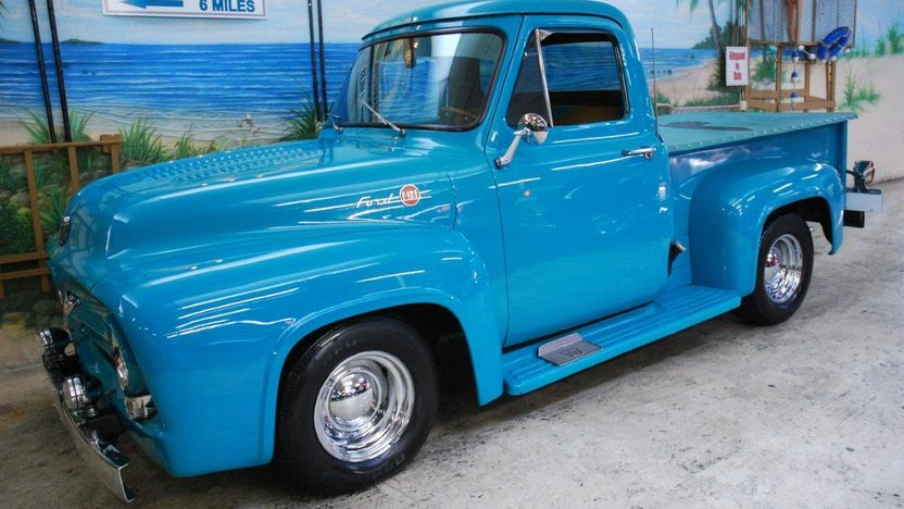1955 Ford F100 Pickup 350 CI, Automatic presented as lot G31 at Kissimmee, FL 2013 - image11