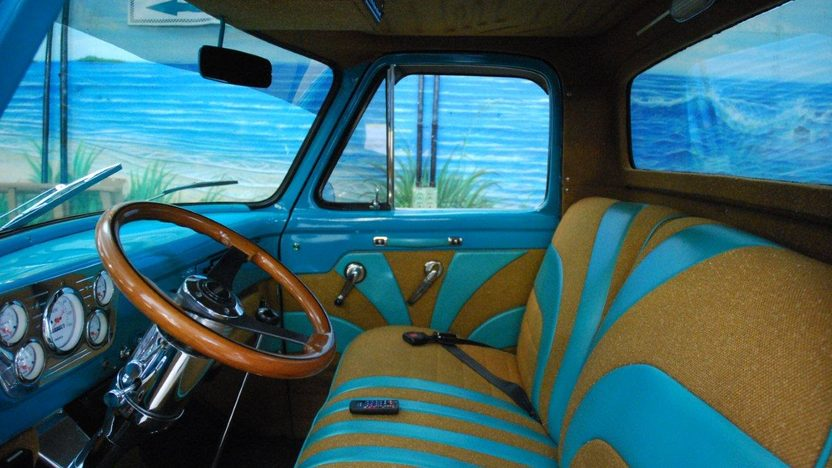 1955 Ford F100 Pickup 350 CI, Automatic presented as lot G31 at Kissimmee, FL 2013 - image3