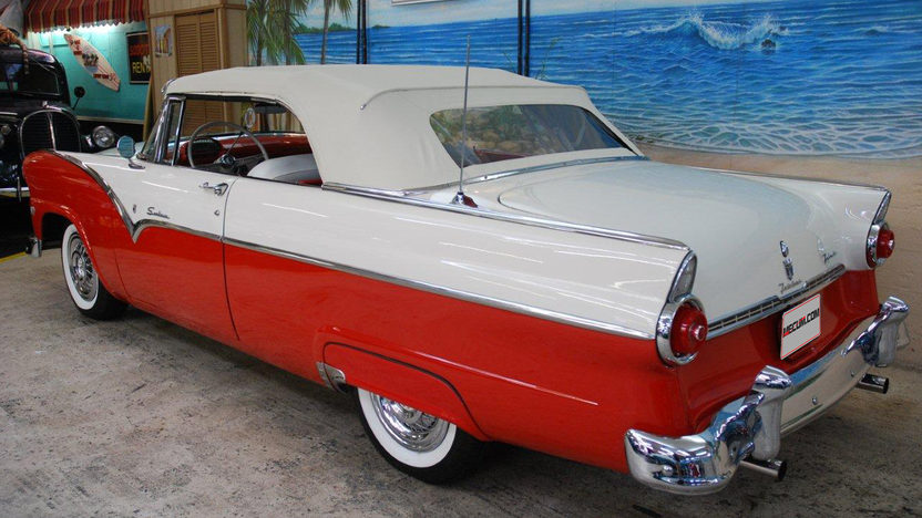 1955 Ford Sunliner Convertible 272 CI, Automatic presented as lot T224 at Kissimmee, FL 2013 - image2