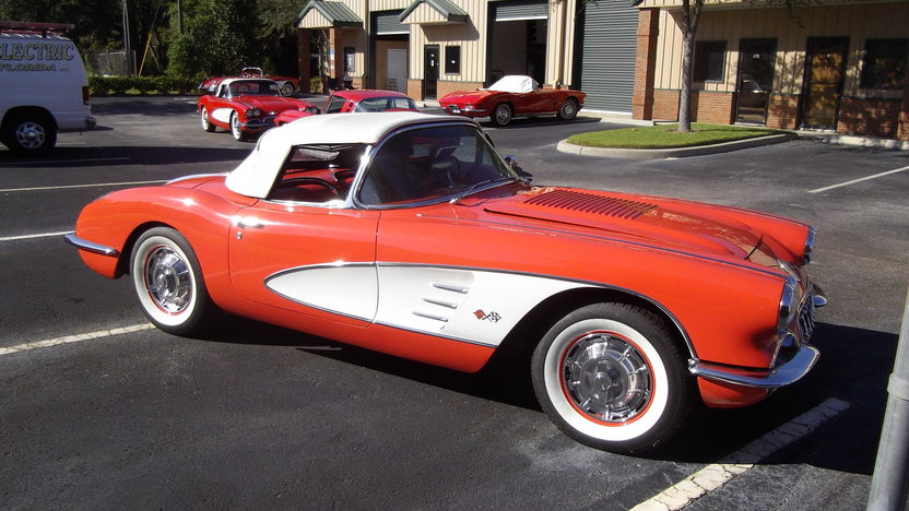 1958 Chevrolet Corvette Convertible 283/230 HP, 4-Speed presented as lot K214 at Kissimmee, FL 2014 - image2