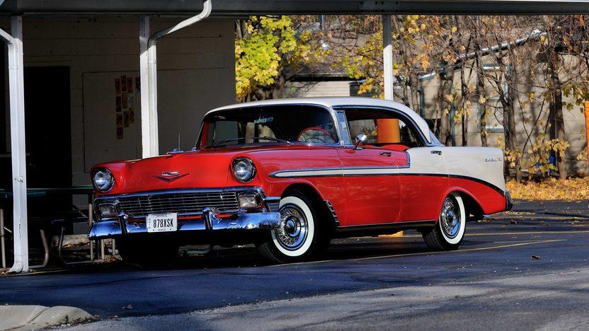 1956 chevrolet bel air 4 door hardtop mecum kissimmee for 1956 pontiac 4 door hardtop