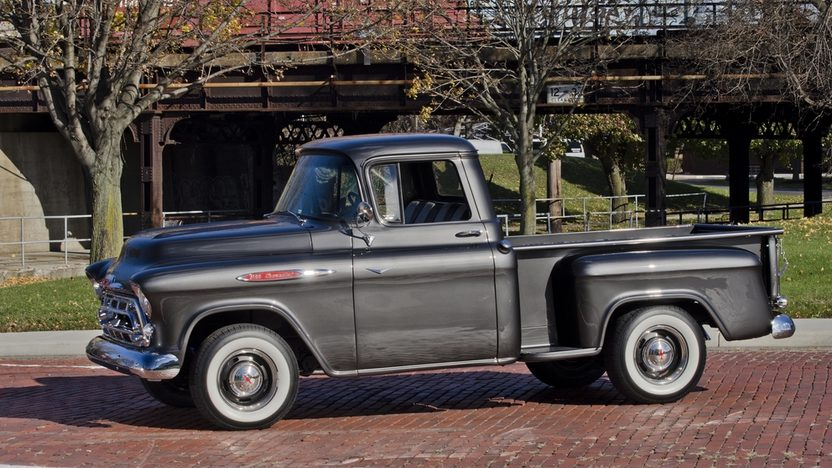 1957 Chevrolet 3100 Pickup 283 CI, 4-Speed presented as lot T220 at Kissimmee, FL 2014 - image12