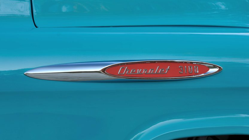 1957 Chevrolet 3100 Deluxe Pickup 283 CI, 3-Speed presented as lot T267 at Kissimmee, FL 2014 - image10