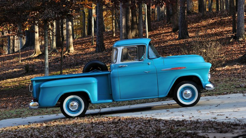 1957 Chevrolet 3100 Deluxe Pickup 283 CI, 3-Speed presented as lot T267 at Kissimmee, FL 2014 - image2