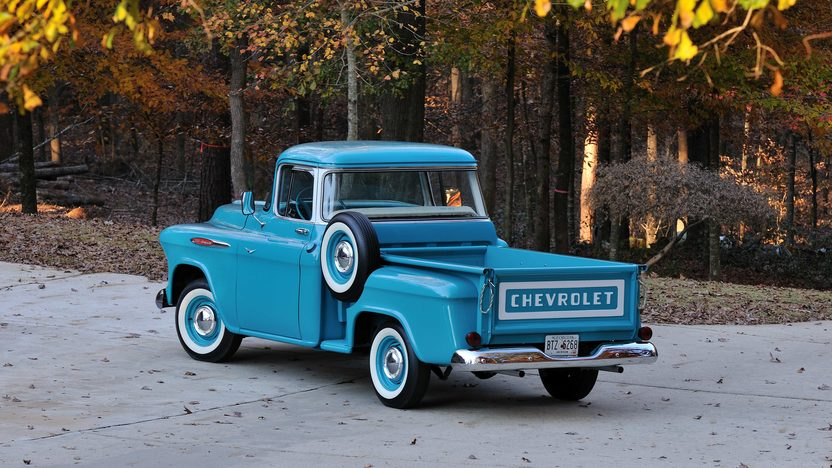 1957 Chevrolet 3100 Deluxe Pickup 283 CI, 3-Speed presented as lot T267 at Kissimmee, FL 2014 - image3
