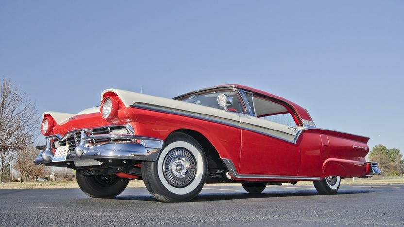 1957 Ford Fairlane 500 F-Code Skyliner Supercharged 312 CI, 3-Speed presented as lot S159 at Kissimmee, FL 2014 - image12