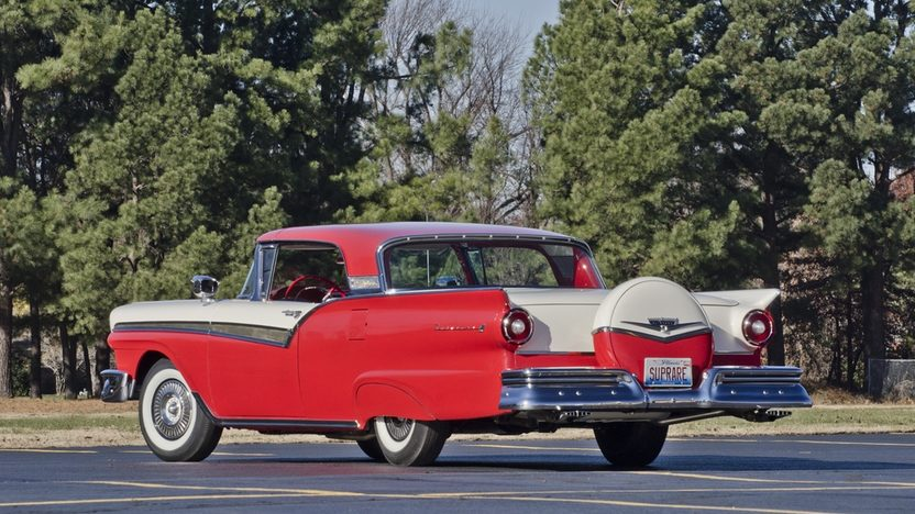 1957 Ford Fairlane 500 F-Code Skyliner Supercharged 312 CI, 3-Speed presented as lot S159 at Kissimmee, FL 2014 - image2