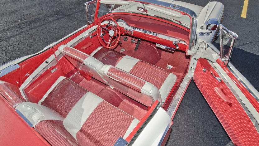 1957 Ford Fairlane 500 F-Code Skyliner Supercharged 312 CI, 3-Speed presented as lot S159 at Kissimmee, FL 2014 - image4