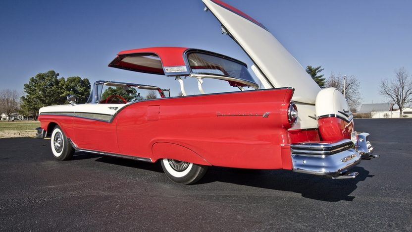 1957 Ford Fairlane 500 F-Code Skyliner Supercharged 312 CI, 3-Speed presented as lot S159 at Kissimmee, FL 2014 - image8