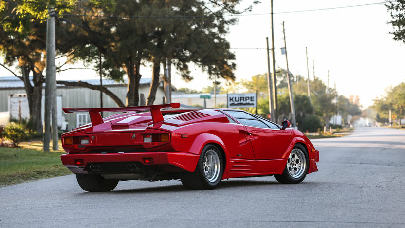 1989 lamborghini countach 25th anniversary 455 hp 5 speed mecum auctions. Black Bedroom Furniture Sets. Home Design Ideas