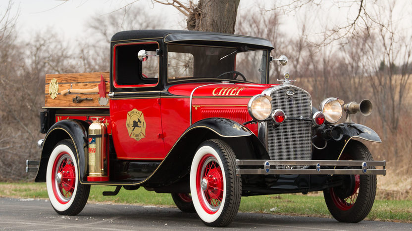 1931 ford model a fire truck mecum auctions. Black Bedroom Furniture Sets. Home Design Ideas