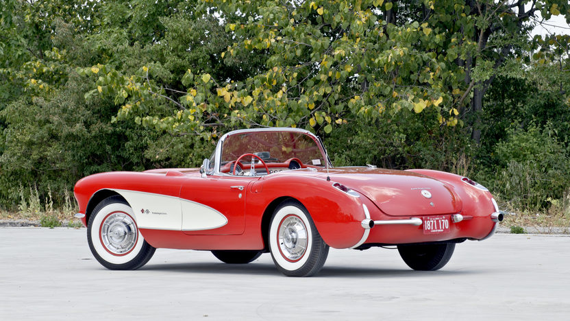 1957 Chevrolet Corvette Fuelie 283/283 HP, Bloomington Gold presented as lot F228 at St Charles, IL 2012 - image2