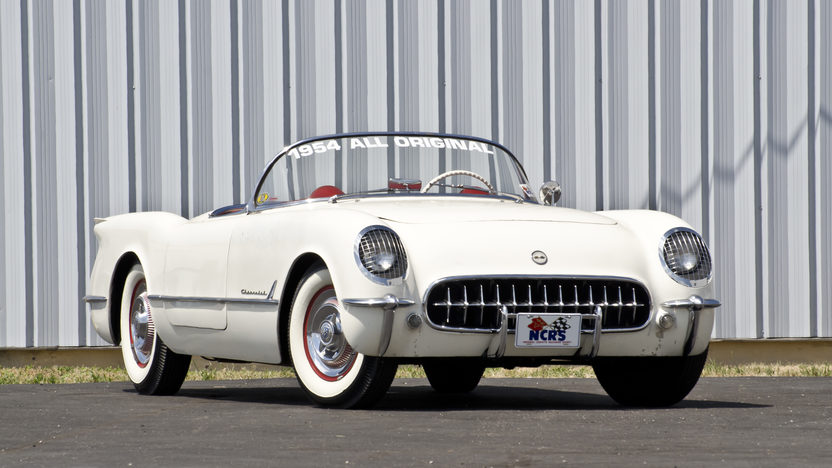 1954 Chevrolet Corvette Roadster Bloomington Gold Survivor, NCRS 5 Star Bowtie presented as lot S87 at St Charles, IL 2012 - image2