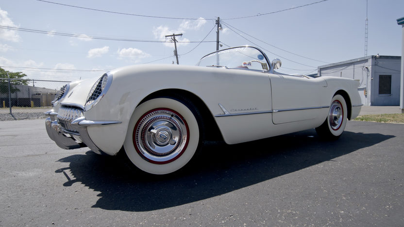 1954 Chevrolet Corvette Roadster Bloomington Gold Survivor, NCRS 5 Star Bowtie presented as lot S87 at St Charles, IL 2012 - image3