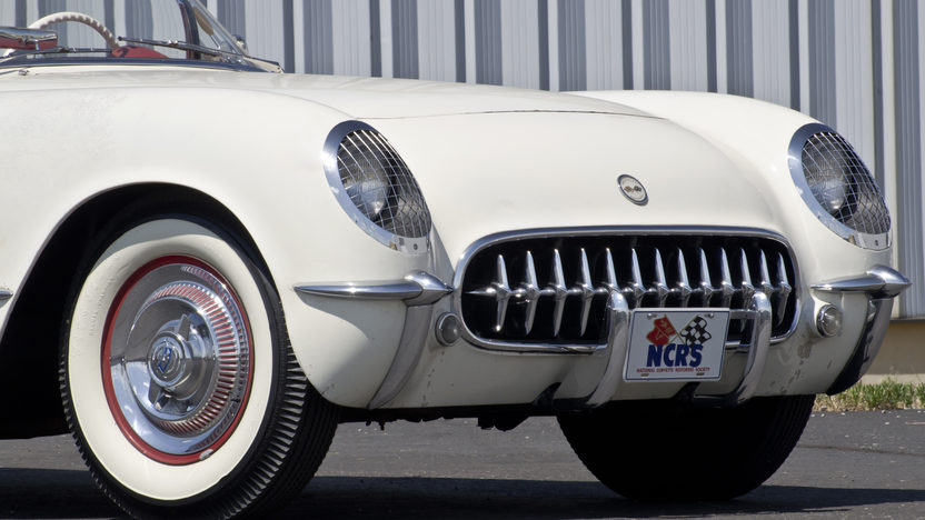 1954 Chevrolet Corvette Roadster Bloomington Gold Survivor, NCRS 5 Star Bowtie presented as lot S87 at St Charles, IL 2012 - image8
