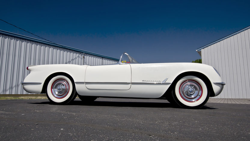 1954 Chevrolet Corvette Roadster Bloomington Gold Survivor, NCRS 5 Star Bowtie presented as lot S87 at St Charles, IL 2012 - image9