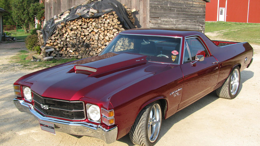 1971 Chevrolet El Camino SS 454 CI, Automatic presented as lot S110 at St Charles, IL 2012 - image8