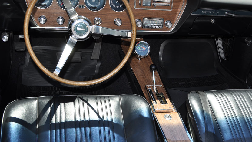 1967 Pontiac GTO Convertible Triple Black, Dual Gate Shifter presented as lot S132 at St Charles, IL 2012 - image3