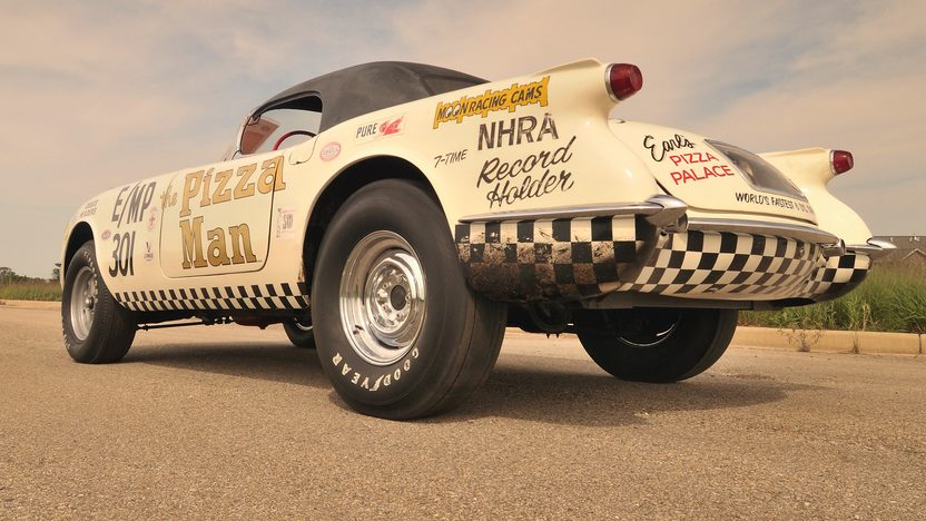 1954 Chevrolet Corvette The Pizza Man 3-Time NHRA World Champion presented as lot S148 at St Charles, IL 2012 - image2