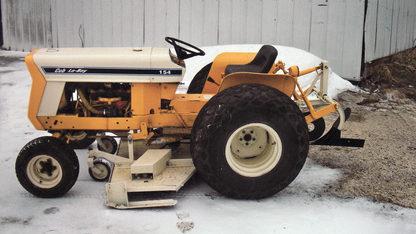 1972 International Cub Lowboy Tractor