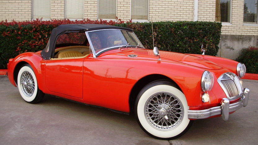 1961 MG A Convertible presented as lot F34 at Houston, TX 2012 - image3