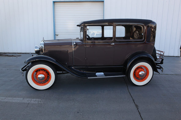 1930 Ford Model A Sedan Frame-off Restoration presented as lot T214 at Houston, TX 2013 - image2