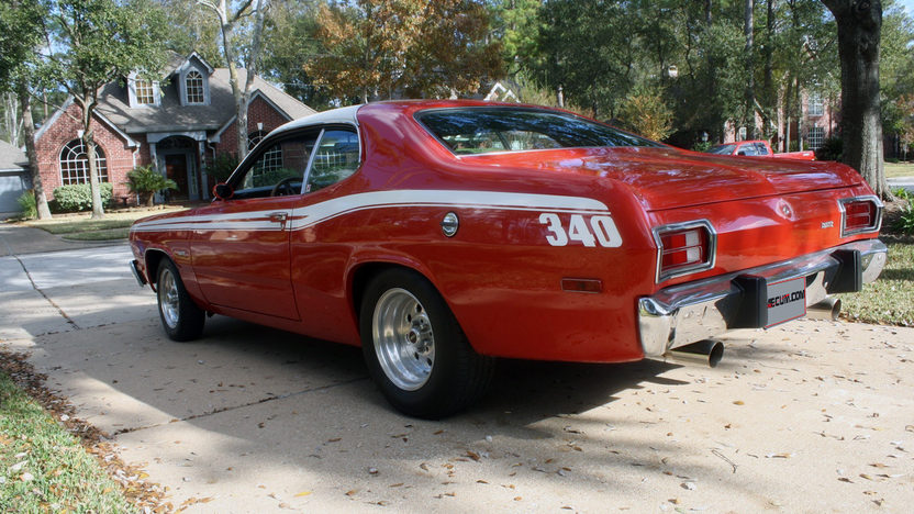 1973 Plymouth Duster 340 CI, 4-Speed presented as lot T247 at Houston, TX 2013 - image2