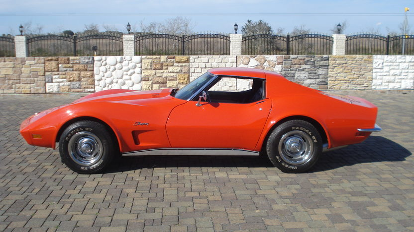 1973 Chevrolet Corvette Coupe 350 CI, 4-Speed presented as lot T311 at Houston, TX 2013 - image2