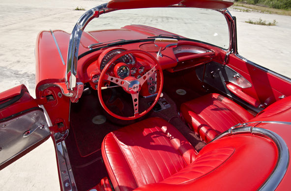 1960 Chevrolet Corvette Convertible 283/245 HP, 4-Speed presented as lot F165 at Houston, TX 2013 - image10
