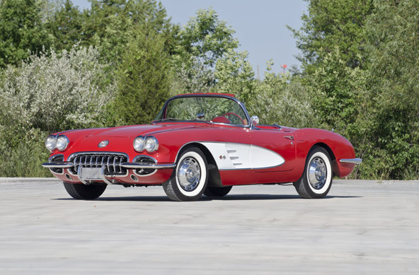 1960 Chevrolet Corvette Convertible 283/245 HP, 4-Speed presented as lot F165 at Houston, TX 2013 - image5
