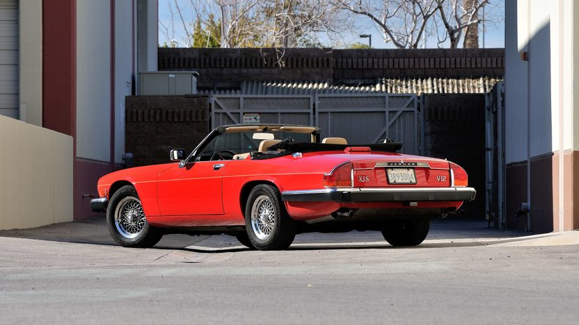 1990 Jaguar XJS Convertible 5.3L V-12, Red/Saddle presented as lot F278 at Houston, TX 2013 - image3