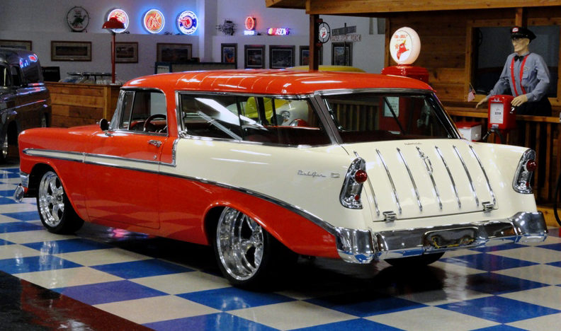 1956 Chevrolet Nomad 350 CI, Vintage Air presented as lot F281 at Houston, TX 2013 - image10