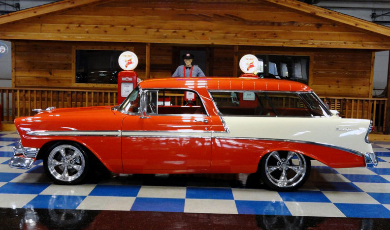 1956 Chevrolet Nomad 350 CI, Vintage Air presented as lot F281 at Houston, TX 2013 - image2