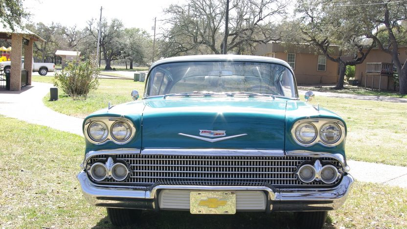 1958 Chevrolet Impala Hardtop 283 CI, Continental Kit presented as lot F322 at Houston, TX 2013 - image8
