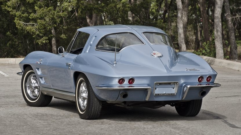 1963 Chevrolet Corvette Split Window Coupe 327/360 HP, 4-Speed, Factory Silver Blue presented as lot S172 at Houston, TX 2013 - image2
