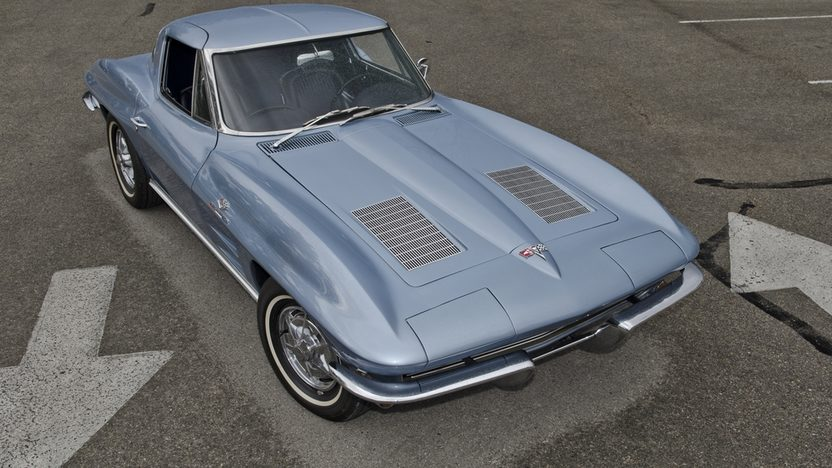 1963 Chevrolet Corvette Split Window Coupe 327/360 HP, 4-Speed, Factory Silver Blue presented as lot S172 at Houston, TX 2013 - image9