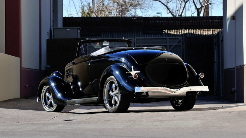 1935 Ford Cabriolet Street Rod 383 CI, Dual Quads, Rumble Seat presented as lot S205 at Houston, TX 2013 - image4