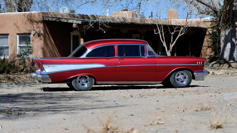 1957 Chevrolet Bel Air Sedan 350 CI, Automatic presented as lot S213 at Houston, TX 2013 - image2