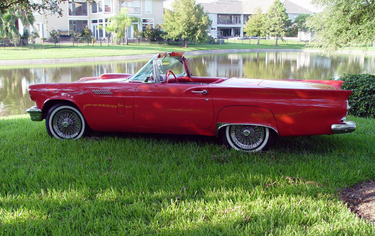 1957 Ford Thunderbird EFI 5.0L, Automatic presented as lot S217 at Houston, TX 2013 - image2