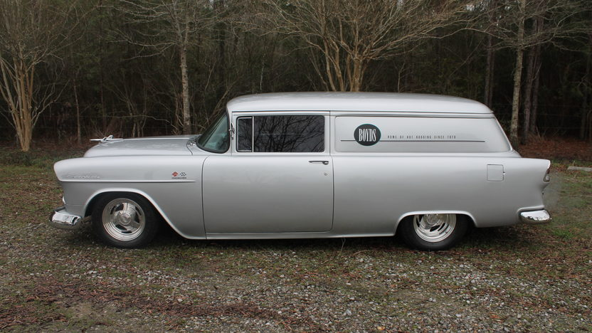 1955 Chevrolet Sedan Delivery 350 CI, Automatic presented as lot S237 at Houston, TX 2013 - image2