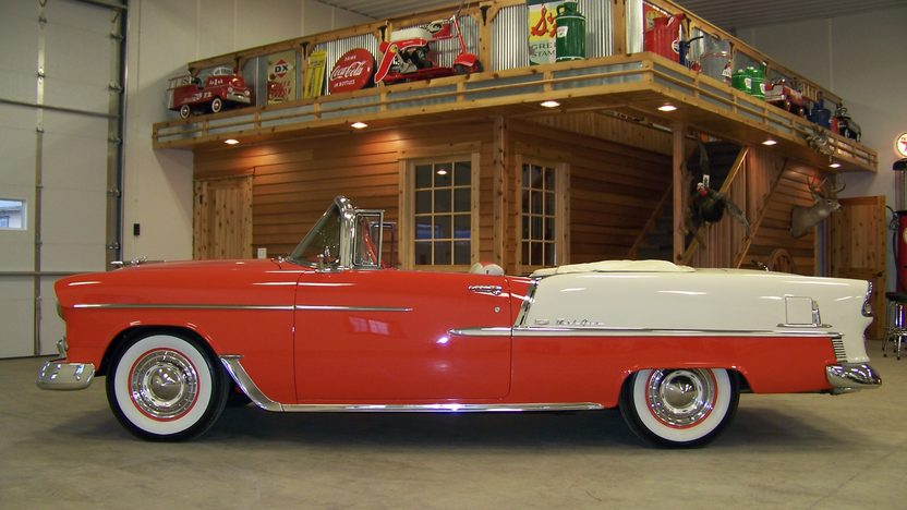 1955 Chevrolet Bel Air Convertible 283 CI, Automatic presented as lot S73 at Houston, TX 2013 - image2