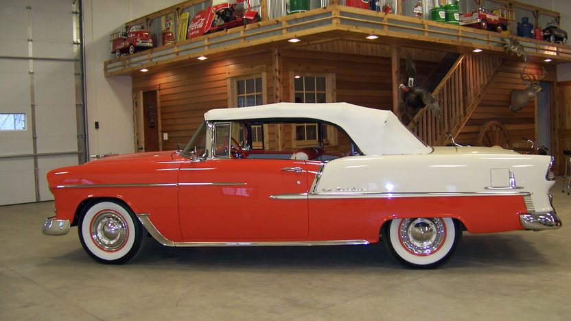 1955 Chevrolet Bel Air Convertible 283 CI, Automatic presented as lot S73 at Houston, TX 2013 - image3