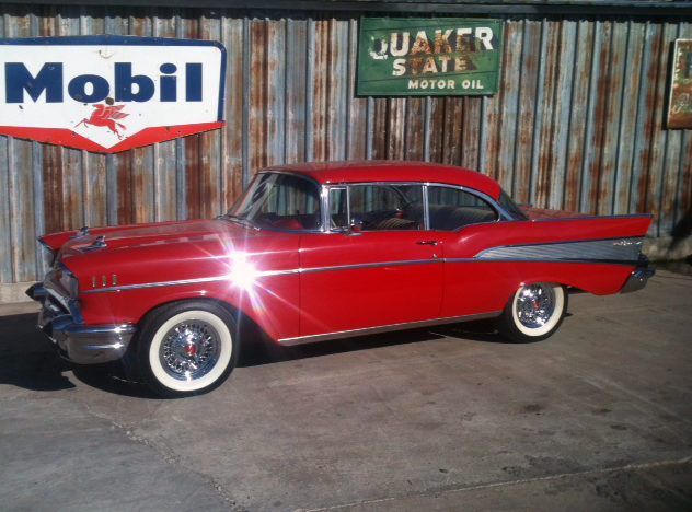 1957 Chevrolet Bel Air 350 CI, Automatic presented as lot S81 at Houston, TX 2013 - image3
