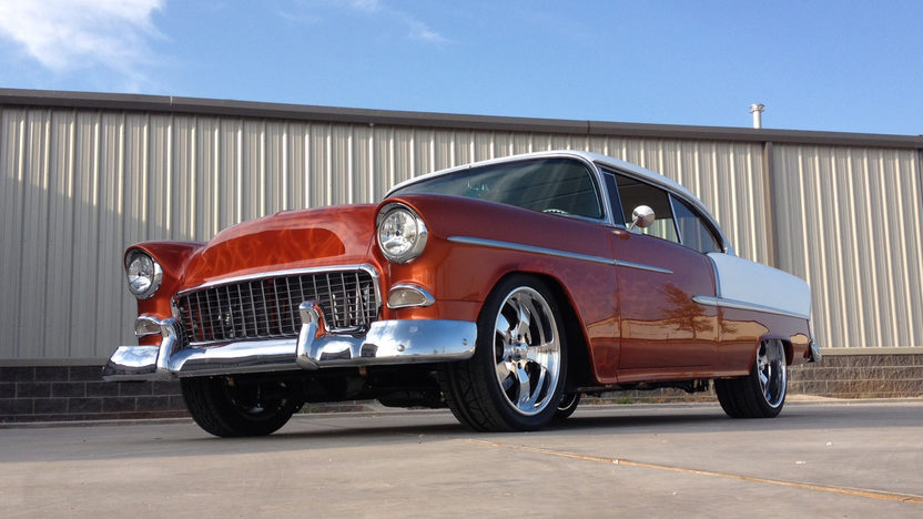 1955 Chevrolet Bel Air Hardtop LS7/630 HP, Air Ride presented as lot S112 at Houston, TX 2013 - image2